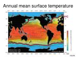 annual mean surface temperature