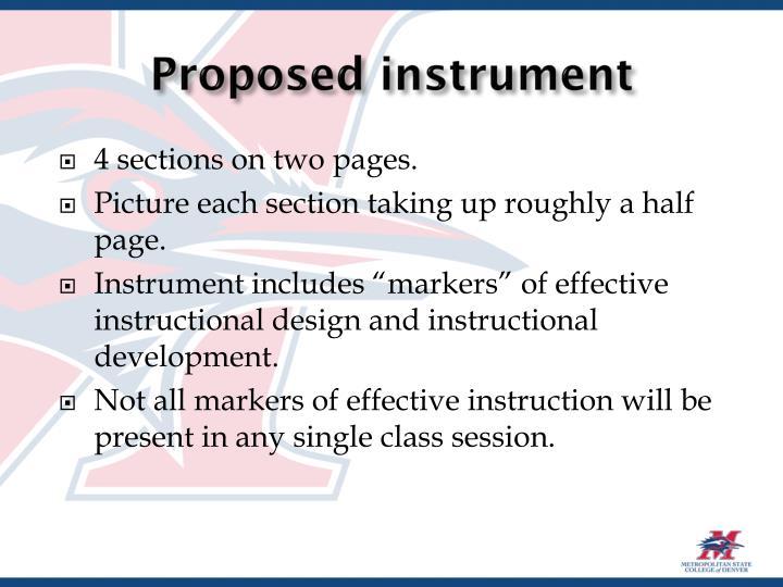 Proposed instrument