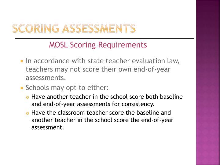 Scoring assessments