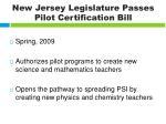 new jersey legislature passes pilot certification bill