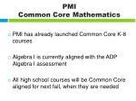 pmi common core mathematics