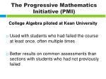 the progressive mathematics initiative pmi2