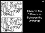 observe six differences between the drawings1