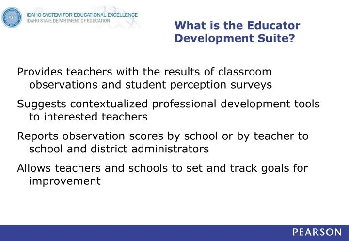 What is the Educator Development Suite?