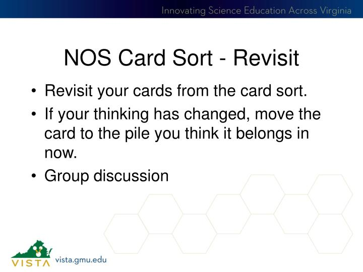NOS Card Sort - Revisit