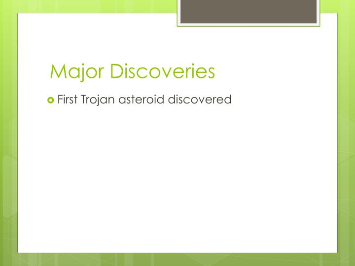 Major Discoveries