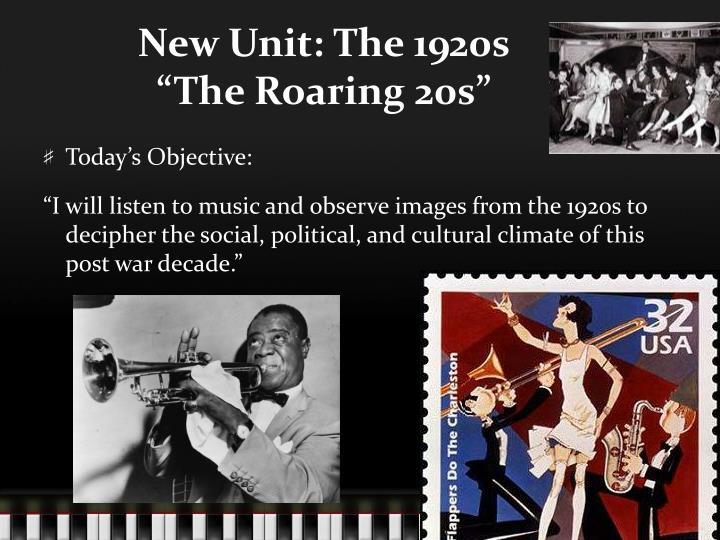 New unit the 1920s the roaring 20s
