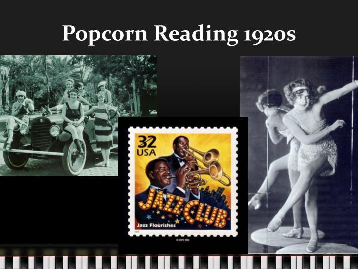 Popcorn Reading 1920s