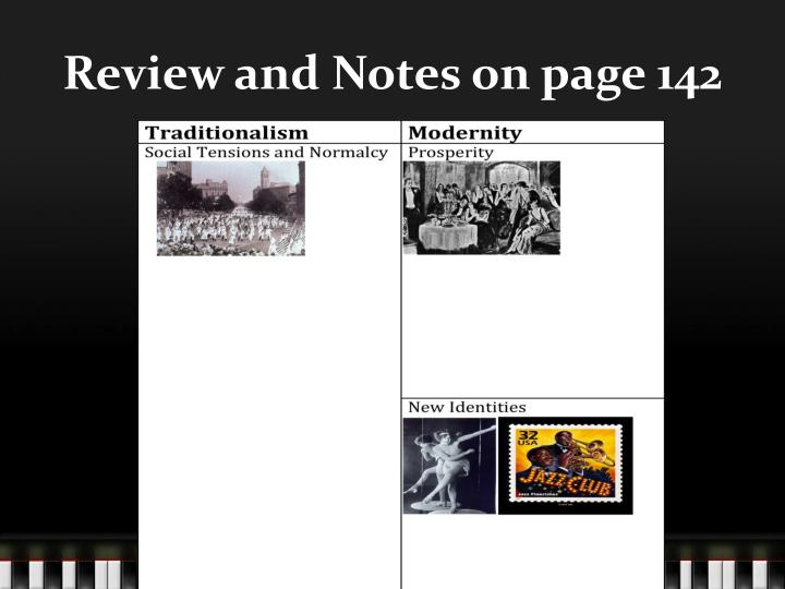 Review and Notes on page 142