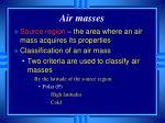 air masses1