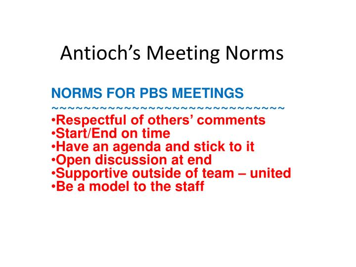 antioch s meeting norms n.