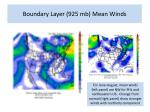 boundary layer 925 mb mean winds