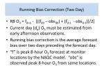 running bias correction two day