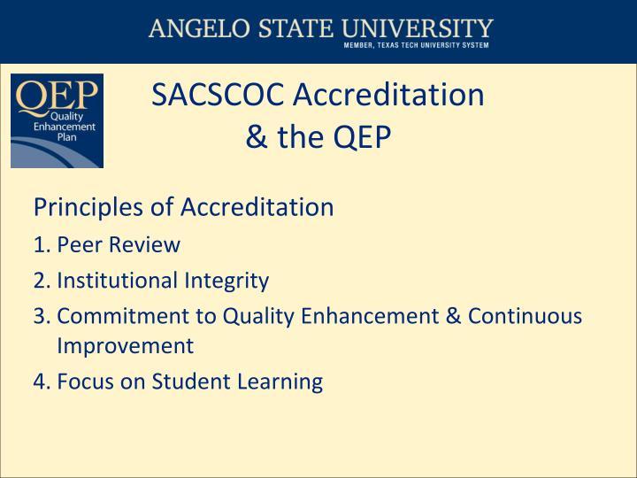 Sacscoc accreditation the qep