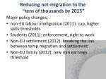 reducing net migration to the tens of thousands by 2015