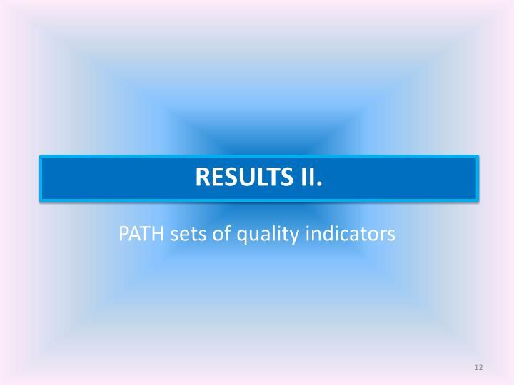 PATH sets of quality indicators