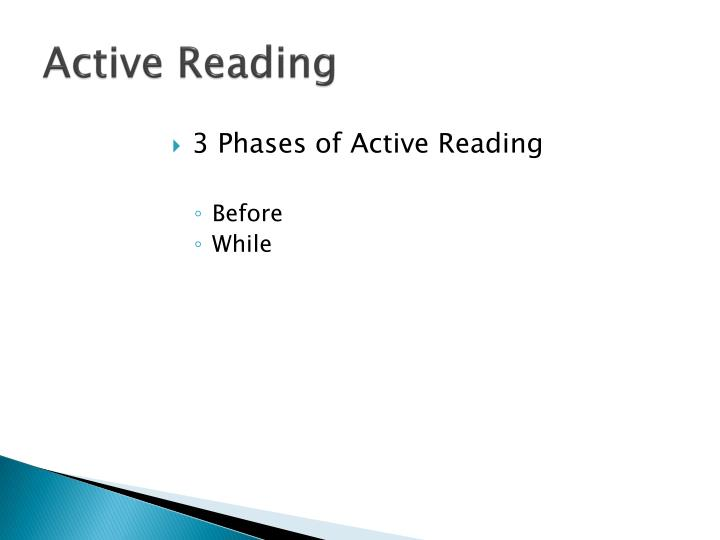 Active Reading