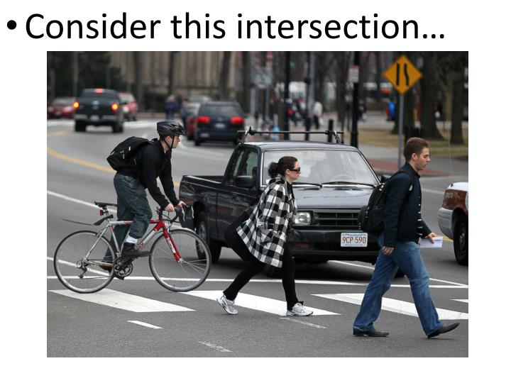 Consider this intersection…