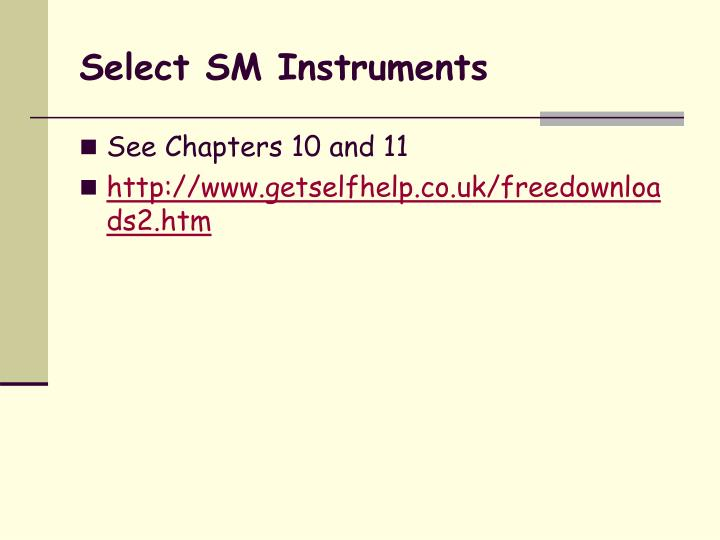 Select SM Instruments