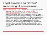 legal provision on citizens monitoring of procurement