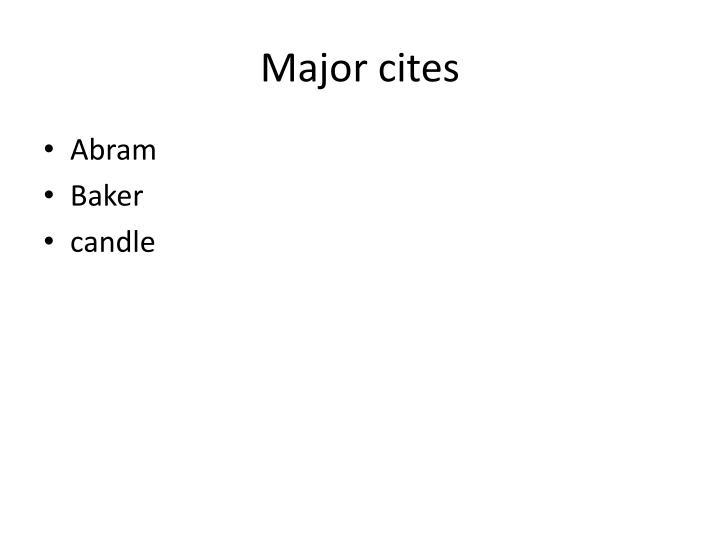 Major cites