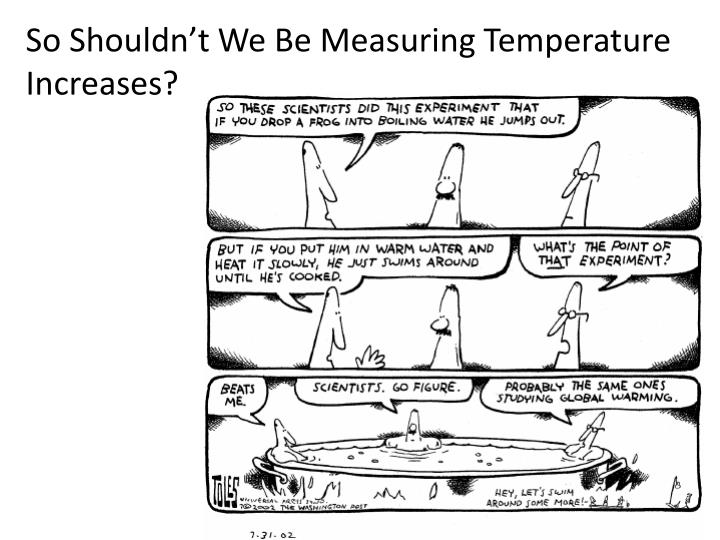 So Shouldn't We Be Measuring Temperature Increases?