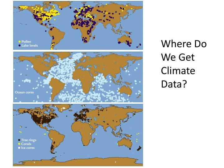 Where Do We Get Climate Data?