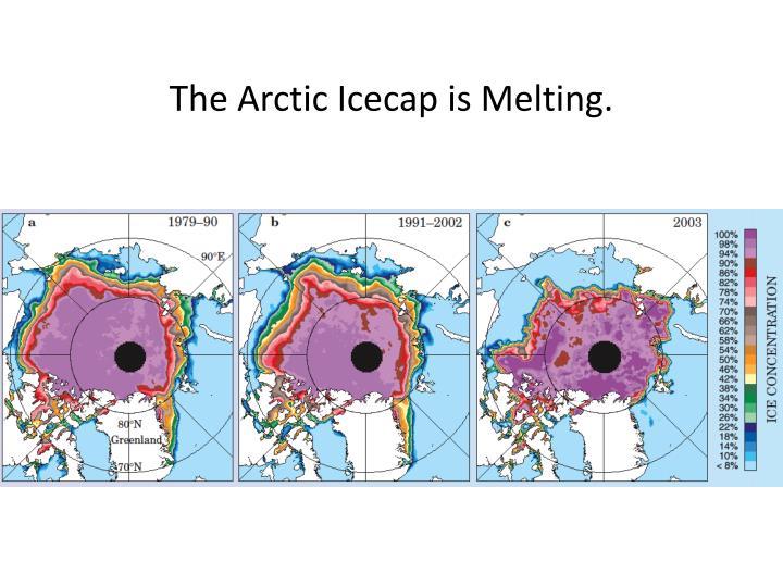 The Arctic Icecap is Melting.