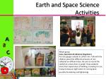 earth and space science activities
