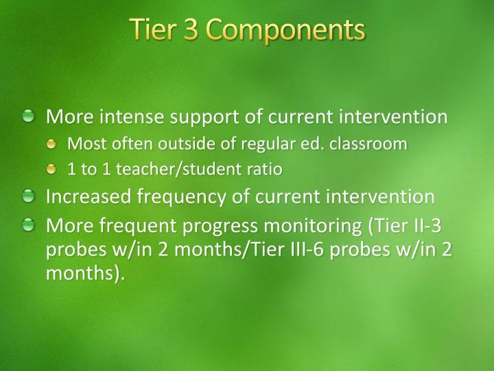 Tier 3 Components