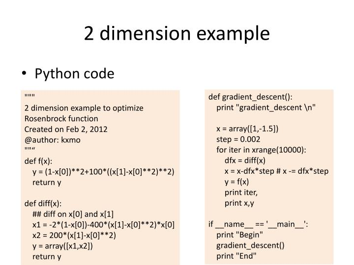 2 dimension example