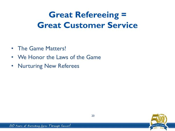 Great Refereeing =