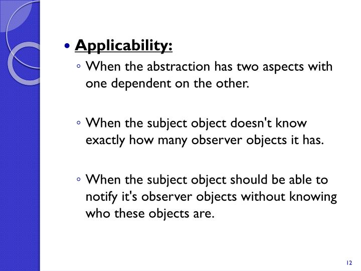 Applicability: