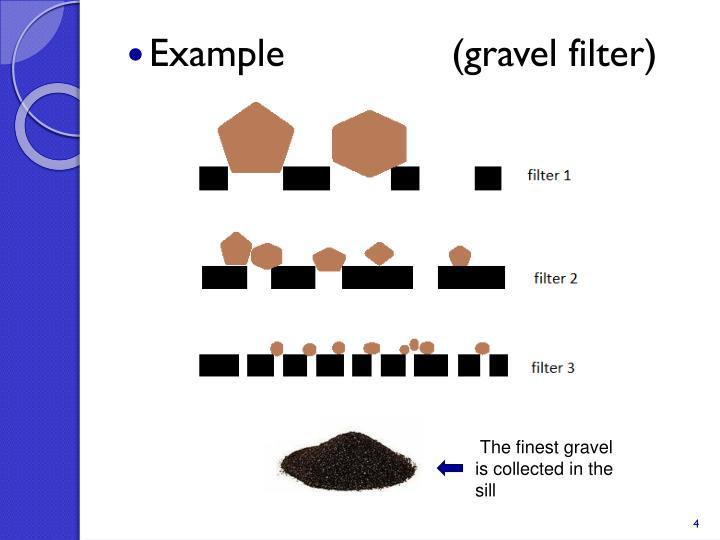Example               (gravel filter)