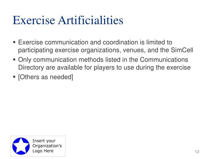 Exercise Artificialities