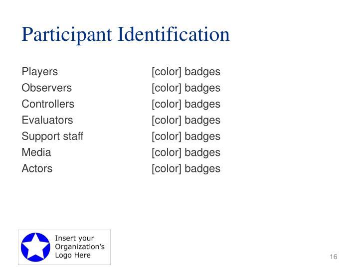 Participant Identification