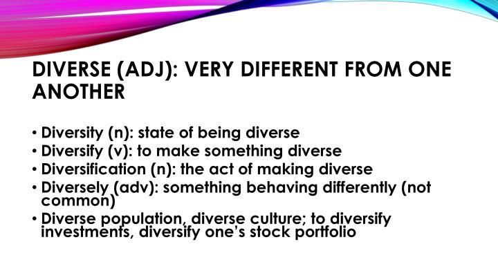 Diverse (