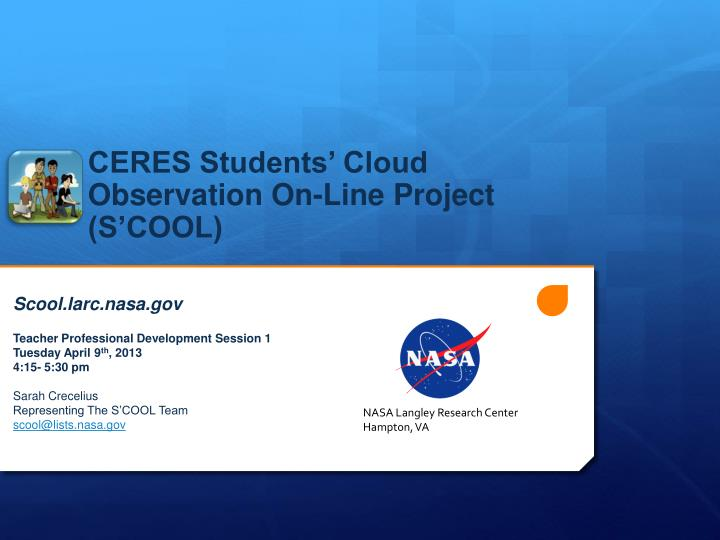 ceres students cloud observation on line project s cool n.