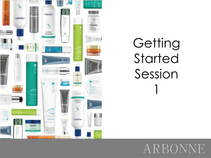 Getting started session 1