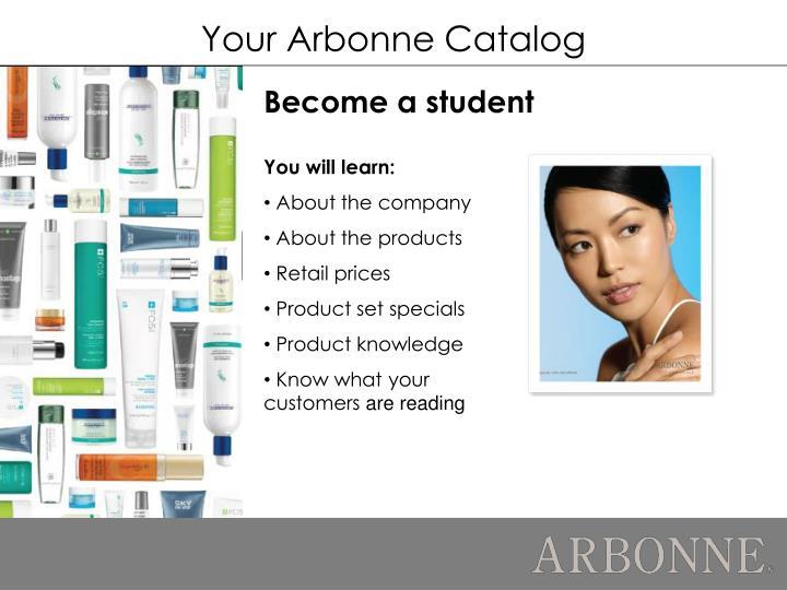 Your Arbonne Catalog