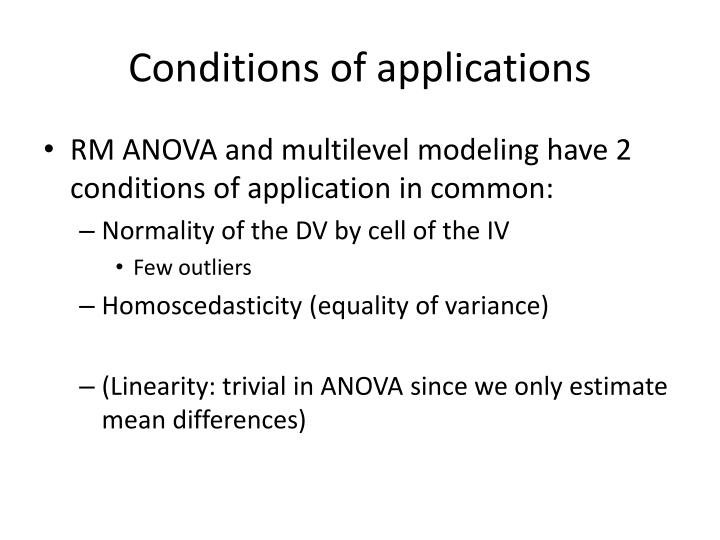 Conditions of applications1