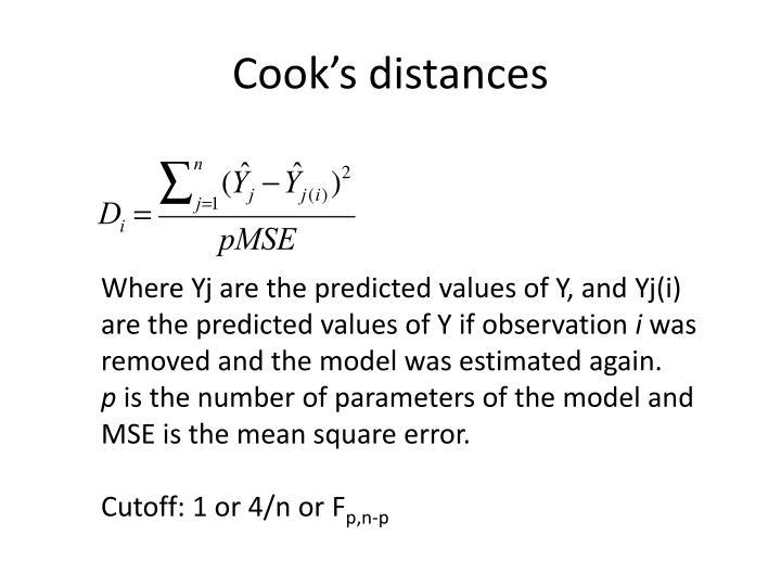 Cook's distances