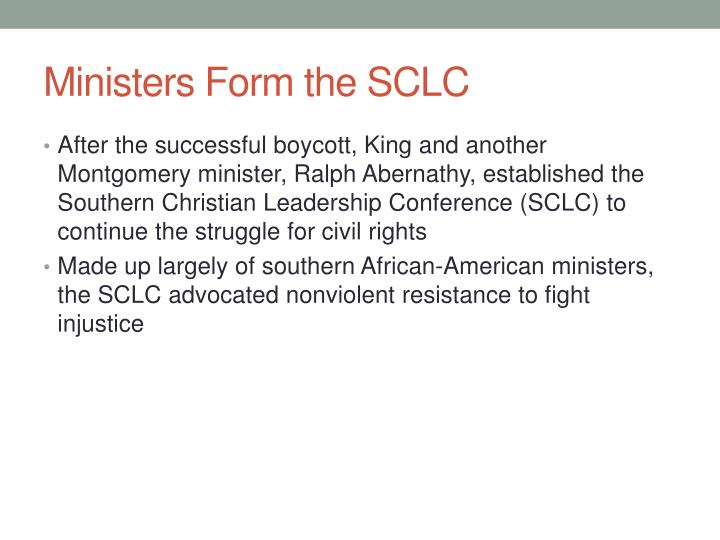 Ministers Form the SCLC