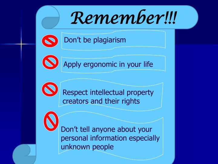 Remember!!!