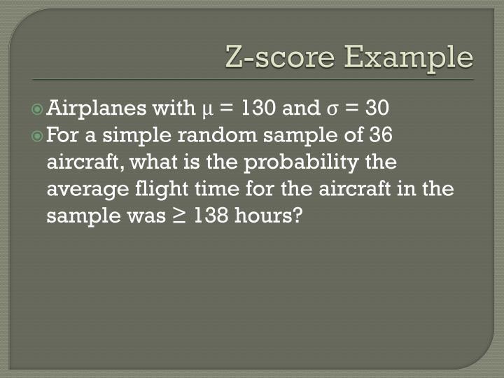 Z-score Example