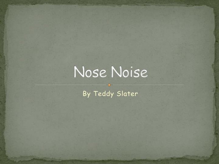 nose noise n.