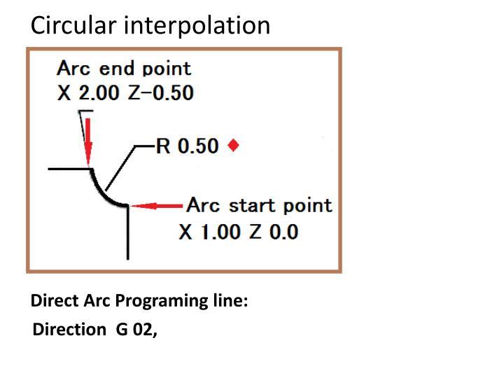 Circular interpolation