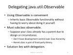 delegating java util observable