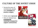 culture of the soviet union