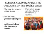 russia s culture after the collapse of the soviet union